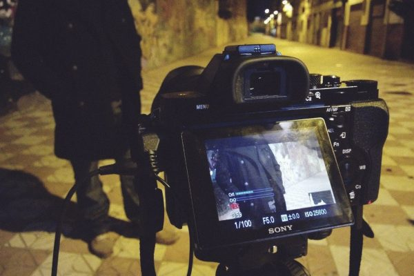 """Rodaje de """"Escenas del graffiti en granada"""" de ínsula sur"""