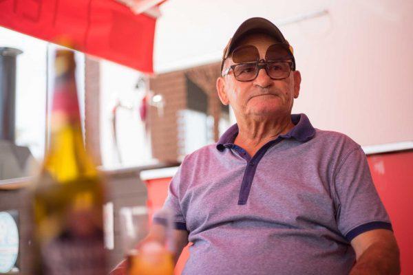 Jose Luis, hijo de los maestros Don Paco y Doña Conchita, en Palomares (Almeria)